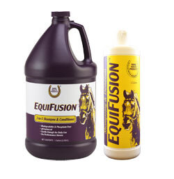 EquiFusion 2-i-1 shampoo og conditioner serie, hesteshampoo